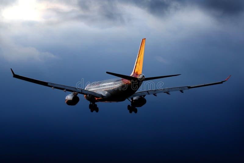 Airbus A330-243 B-6116 de l'atterrissage de Hainan Airlines à l'aéroport international de Sheremetyevo photographie stock