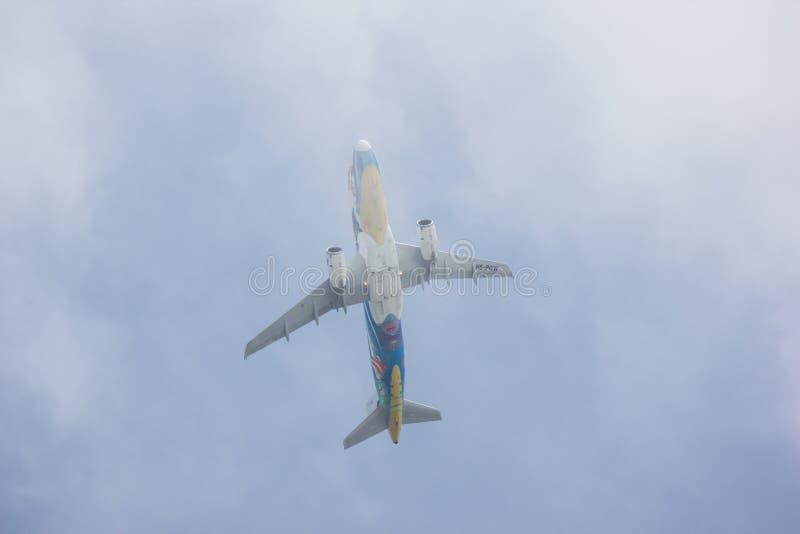Airbus A320-200 of Bangkokairway stock photos