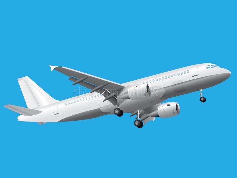 Airbus blanc illustration stock