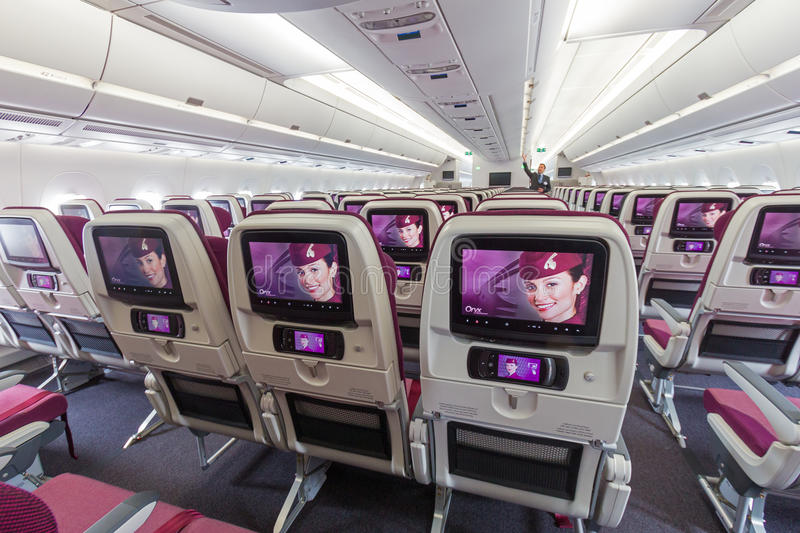 Airbus a350 cabin editorial stock photo image of carrier for Interieur qatar airways