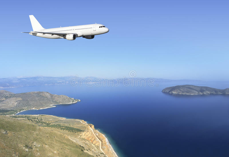 Download Airbus Crete coast stock photo. Image of airline, airliner - 14678270
