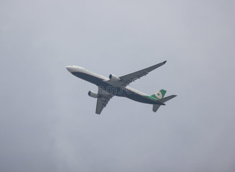 Airbus A330-300 d'EvaAir image libre de droits
