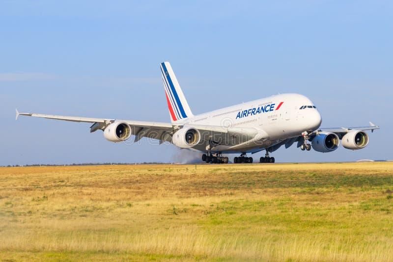 Airbus a380 de Air France imágenes de archivo libres de regalías