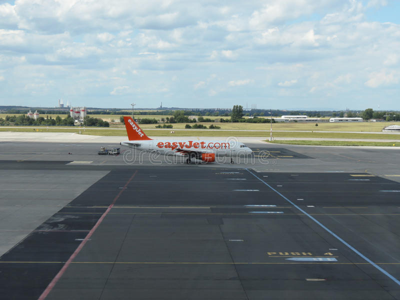 Airbus A319 de las líneas aéreas de Easyjet foto de archivo libre de regalías