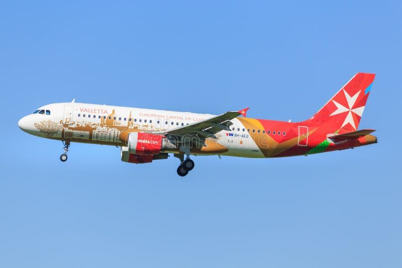 Airbus A320 de Malta imágenes de archivo libres de regalías