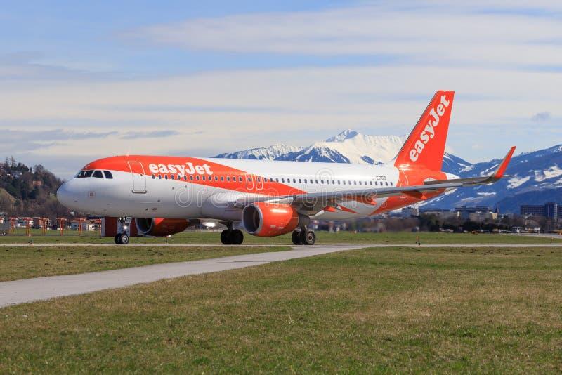Airbus A320 del aterrizaje de Easyjet fotos de archivo libres de regalías