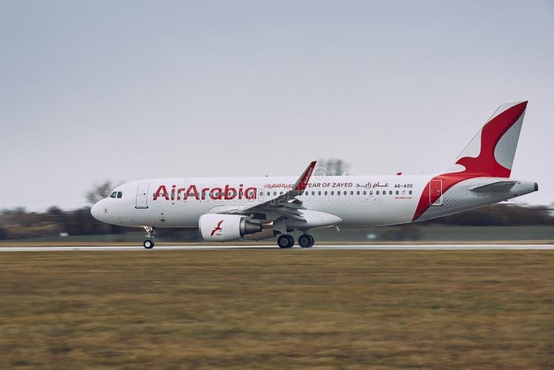 Airbus A320 di Air Arabia fotografia stock libera da diritti