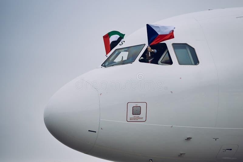 Airbus A320 di Air Arabia fotografie stock libere da diritti