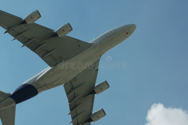 Airbus eccellente A380 immagine stock libera da diritti