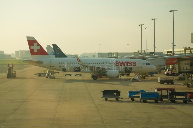 Airbus A320-200 HB-JLT Swiss International Lines zdjęcia royalty free