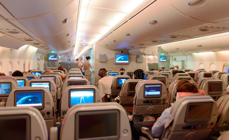 Airbus a380 interior editorial photography image of for Avion airbus a380 interieur
