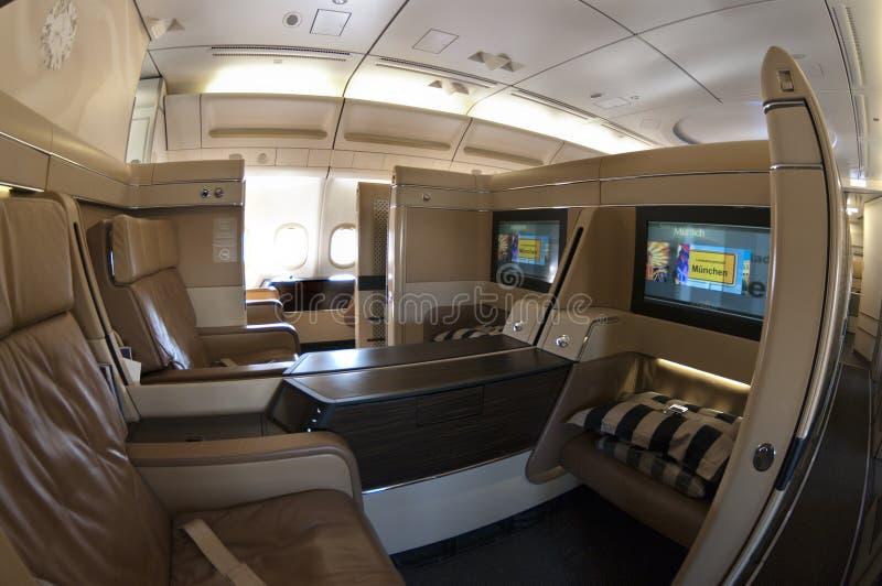 airbus klasy pierwszy siedzenia fotografia stock