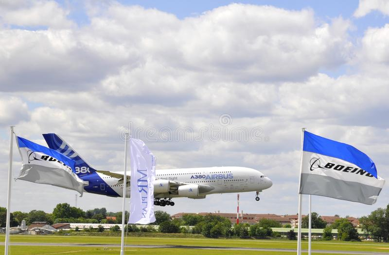 Airbus Landing Editorial Stock Photo