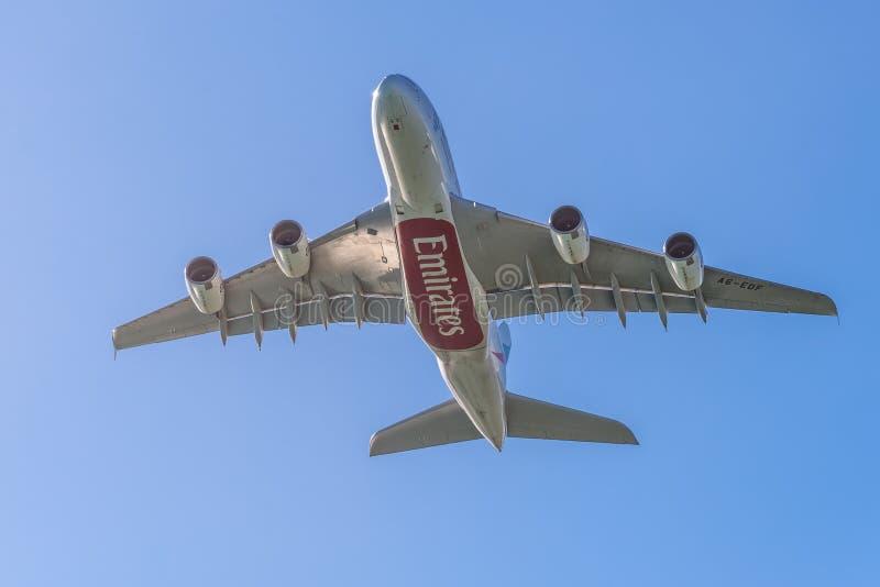 Airbus A380 - les plus grands avions de transport de passagers du monde photographie stock