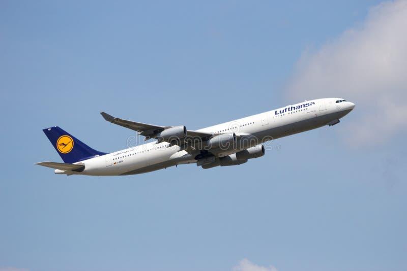 Airbus A340 Lufthansa Editorial Stock Image