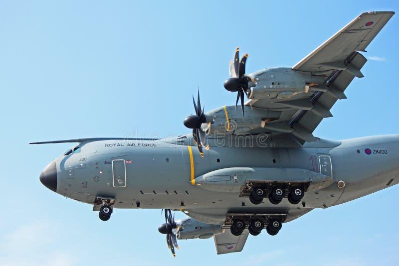 Airbus A400M της Royal Air Force επάνω στενό στοκ φωτογραφία με δικαίωμα ελεύθερης χρήσης