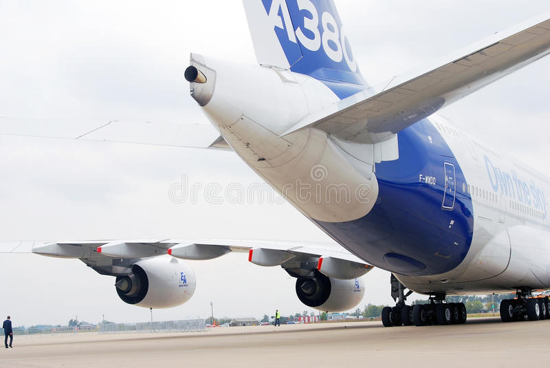 Airbus A380 at MAKS-2013 stock photos