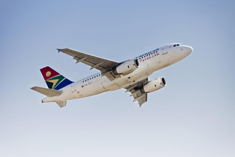 Airbus A319 - MSN 2375 - ZS-SFI immagini stock