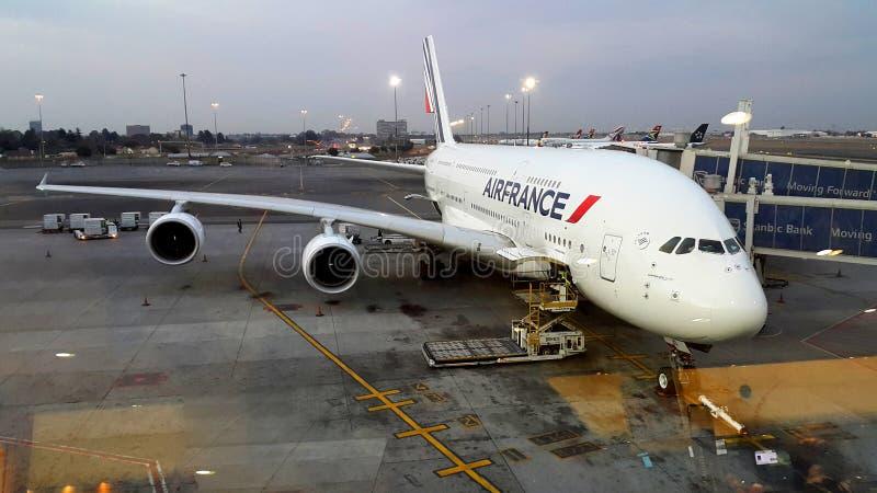 Airbus A380P antes a decolar imagens de stock royalty free