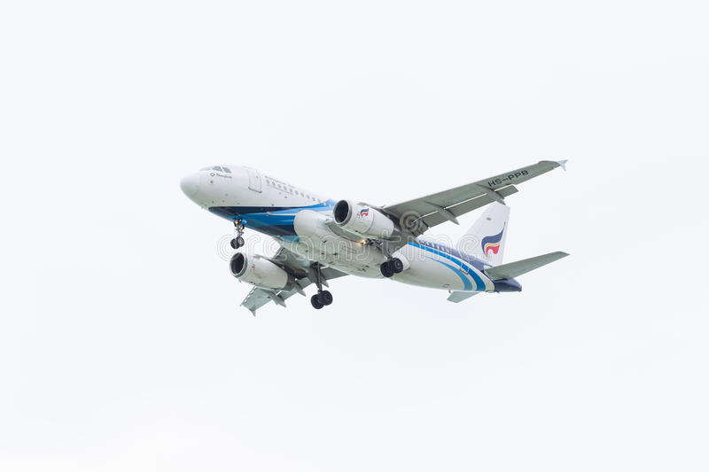 Airbus A319 par Bangkok Airways photographie stock