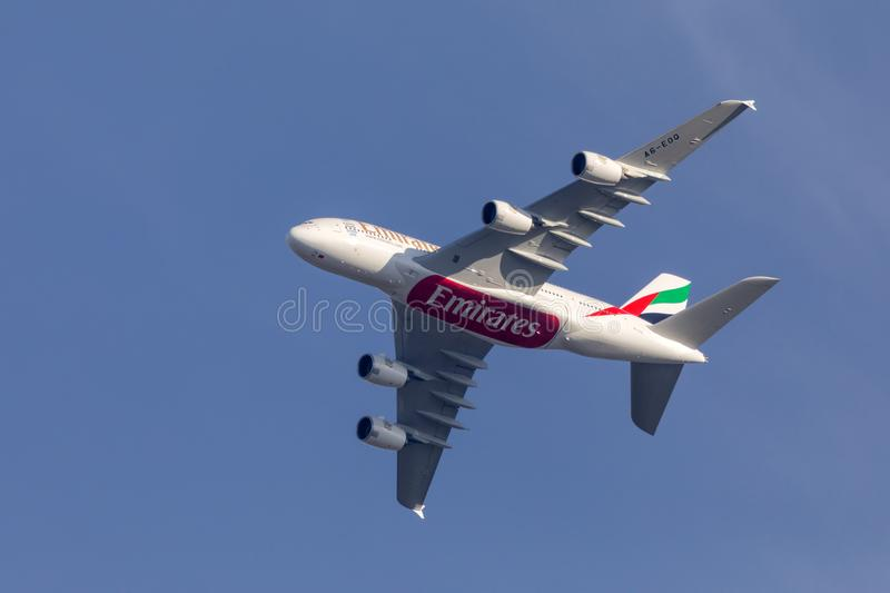 Airbus A380 Passenger Airliner, Warwickshire, England. royalty free stock image