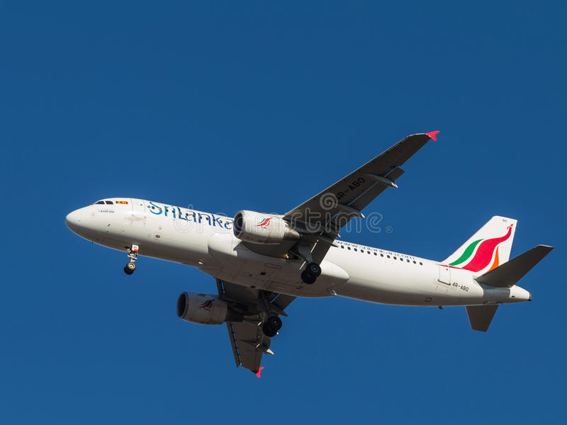 Airbus A-320, SriLankan Airlines stock images