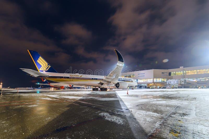 Airbus A350-900 9V-SMF Singapore Airlines photographie stock libre de droits