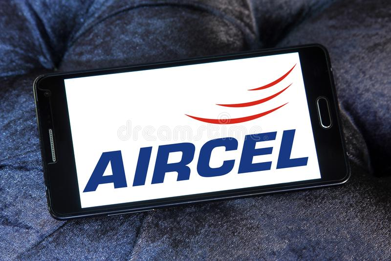 Aircel mobiloperatörlogo arkivbild