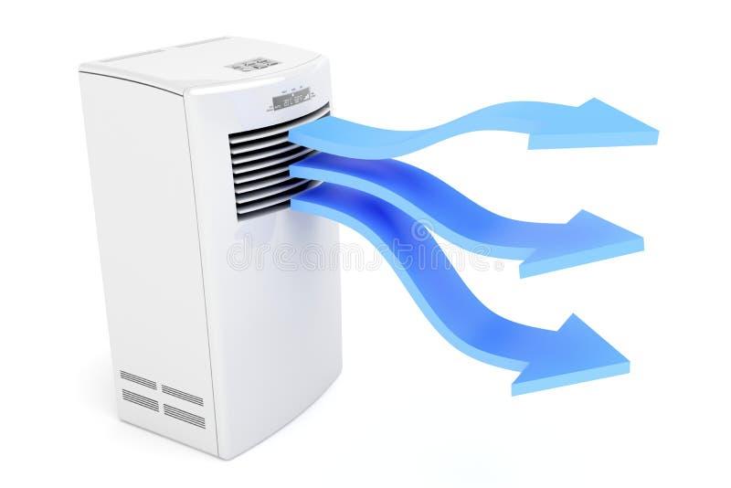 Airconditioner die koude lucht blaast stock illustratie