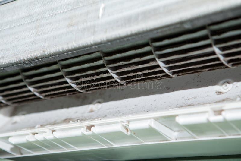 Airconditioner en de Vuile ventilator van de eekhoornkooi royalty-vrije stock foto
