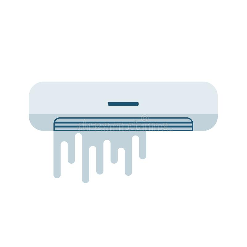 Airconditioner Gebroken pictogram royalty-vrije illustratie