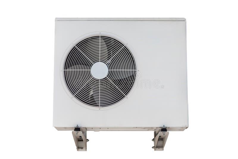 Airconditioner op een witte achtergrond wordt geïsoleerd die stock foto