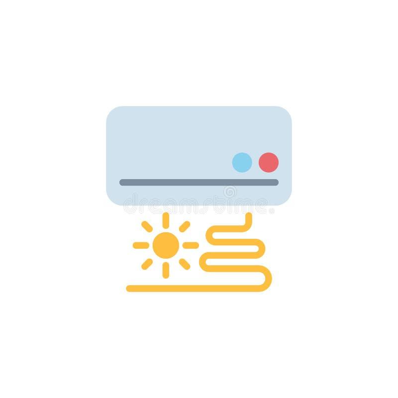 Airconditioner vlak pictogram vector illustratie