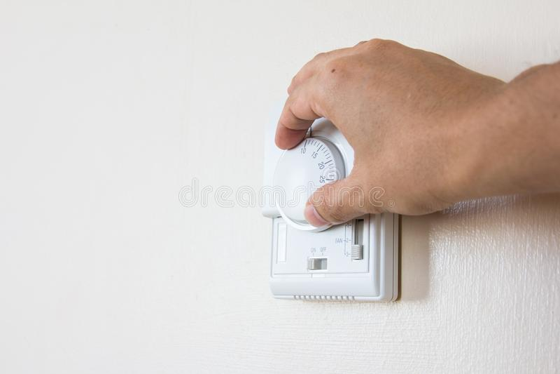 Airconditionercontrole royalty-vrije stock afbeeldingen