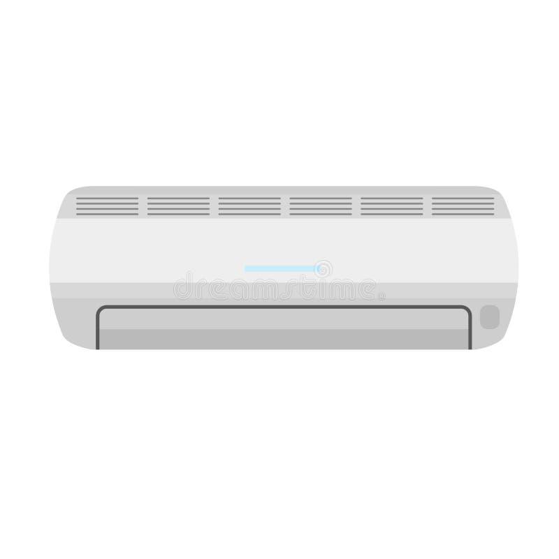 Airconditionerpictogram, vlakke stijl vector illustratie