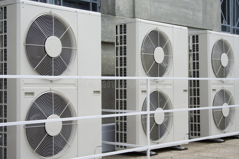 Airconditioners royalty-vrije stock afbeelding