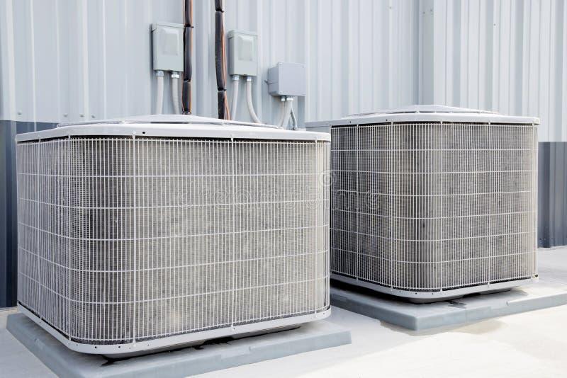 Airconditioners som är industerial, royaltyfria foton