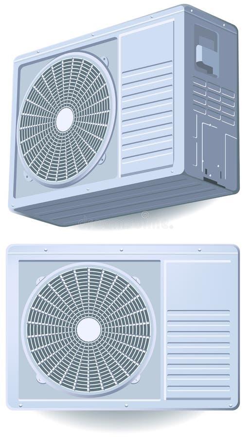 Airconditionerspleet, systeem royalty-vrije illustratie