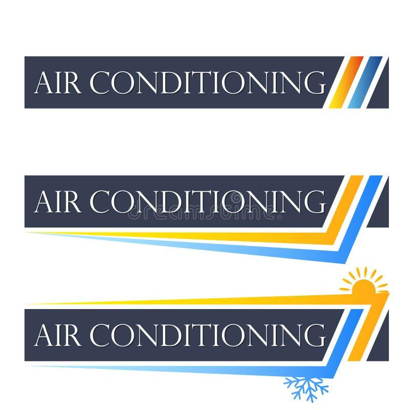 Airconditionings vastgesteld symbool royalty-vrije illustratie