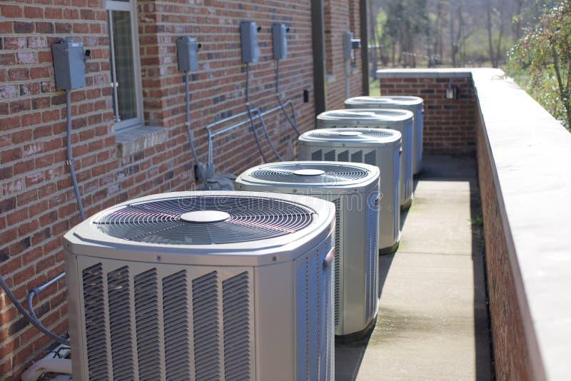 Airconditioningseenheden stock afbeelding