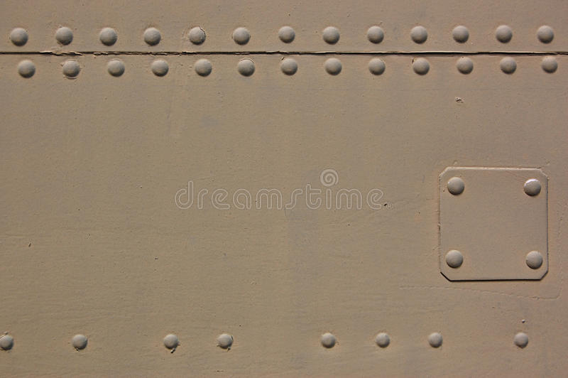 Aircraft. The riveted covering of a fuselage of the old military plane stock photos