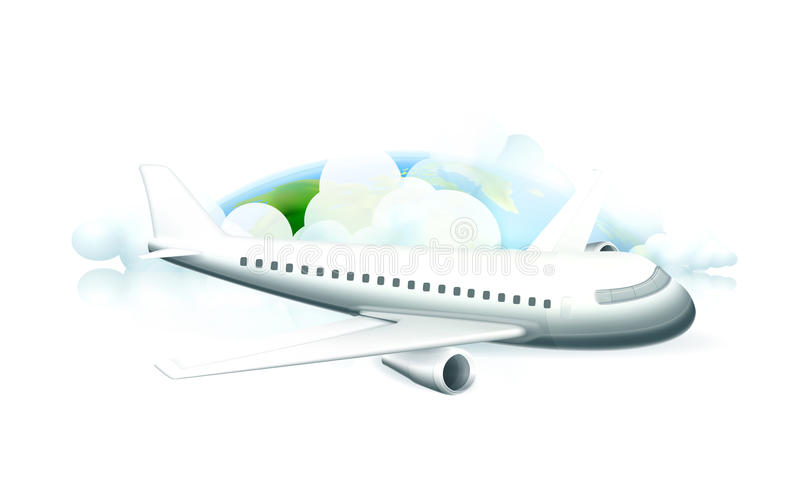 Download Aircraft stock vector. Image of trip, aviation, travel - 24582406