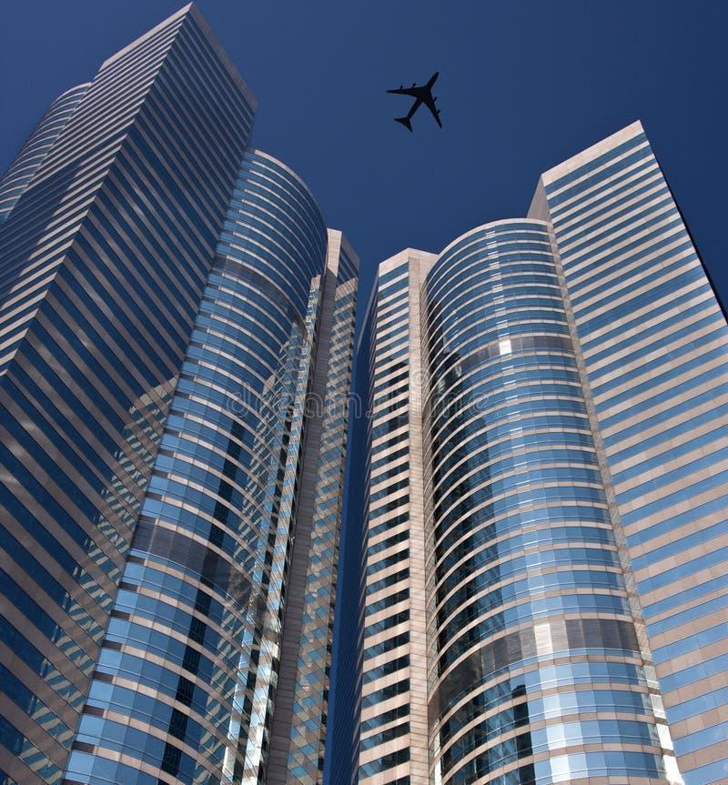 Download Aircraft Above Skyscrapers - Hong Kong Stock Image - Image: 15569675