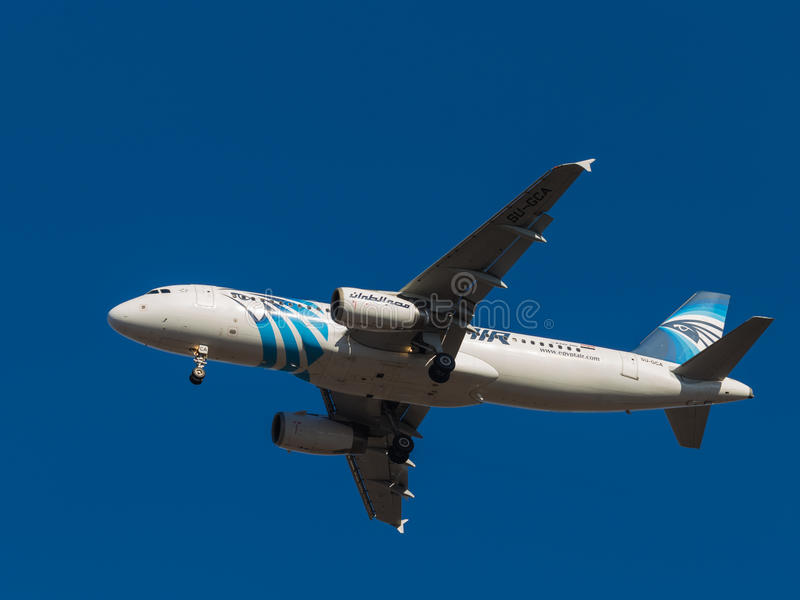 Aircraft Airbus A320, airlines Egyptair stock images