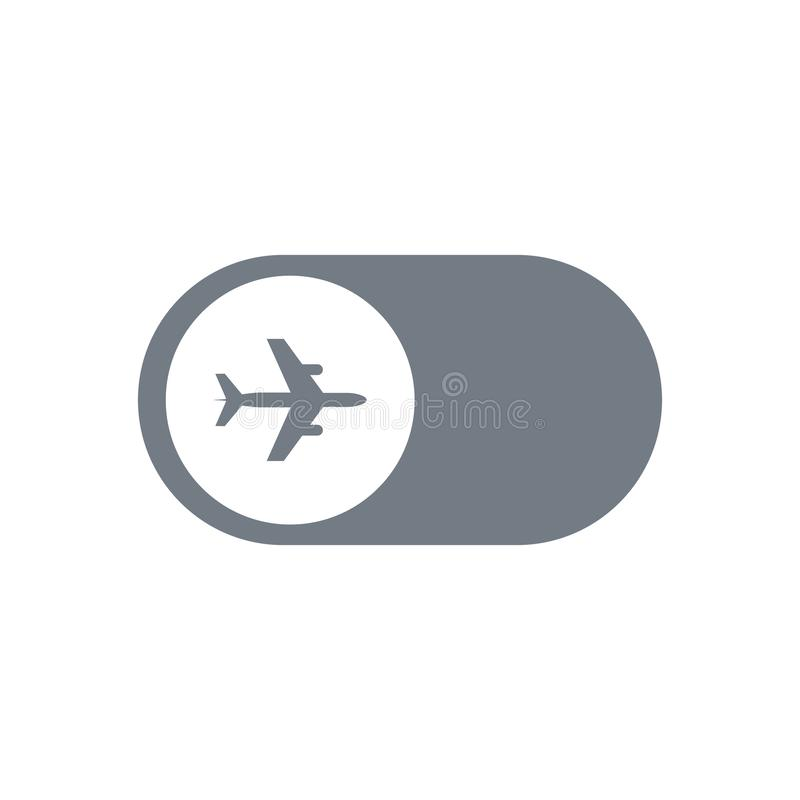 Aircraft or airplane icon . perfect airplane symbol. web design and mobile design. white background. royalty free illustration