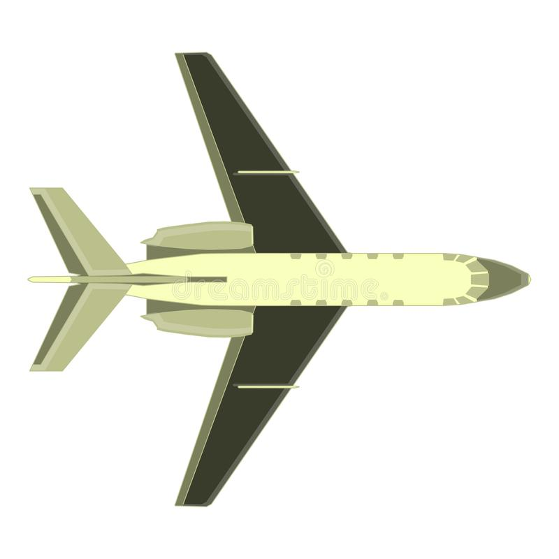 Aircraft airplane vector plane isolated color air airliner fly design. Element jet color shape vector illustration