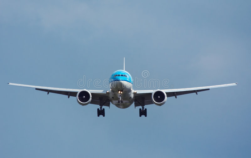Aircraft approaching royalty free stock photo