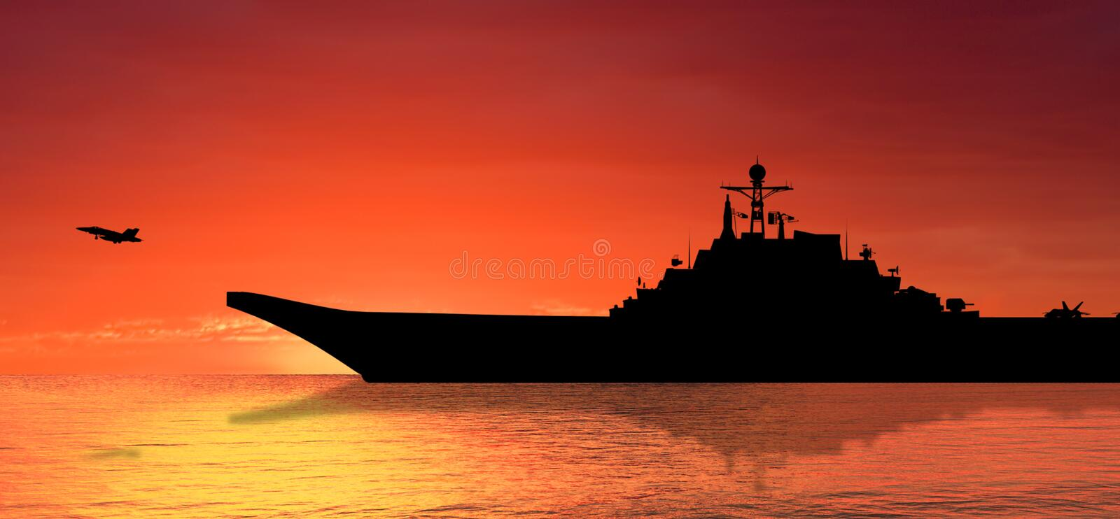 Download Aircraft carrier stock image. Image of cloud, battle - 14338355