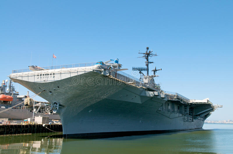 Aircraft Carrier stock photo
