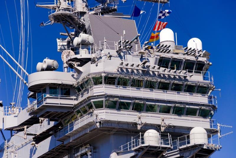 Aircraft Carrier Bridge stock photos
